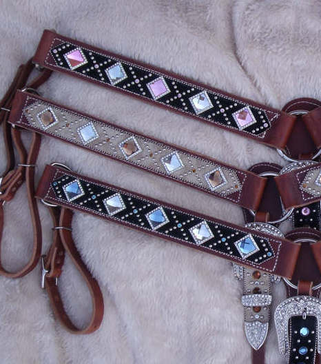 bling breast collars   western rhinestone belts   bling on a budget